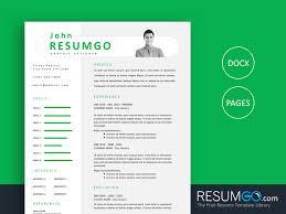 Resume Modern Ex Paeon Modern And Professional Resume Template Resumgo Com