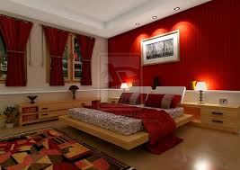 Red-Theme-Bedroom-Design-With-Rug-And-Wall-