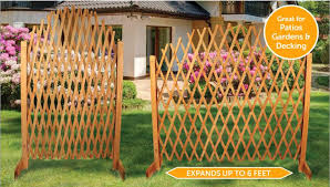 arched freestanding trellis wooden extendable garden screen fence