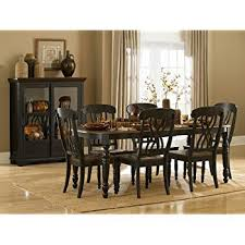 homelegance ohana 7 piece dining table set in black warm cherry