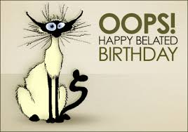 Image result for Belated birthday cartoons