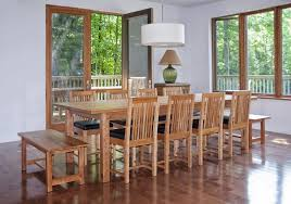 long dining table mission style dining room set with