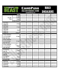 Beast Workout Sheet Free Improved Body Beast Workout Sheets Workout sheets Body beast 1