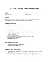 Free Customer Service Resume Templates Customer Service Call