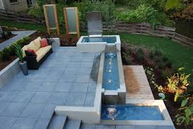 Beautiful Backyard Water Features for Landscaping Ideas: Modular Waterfall  Fountain For Backyard Water Features With