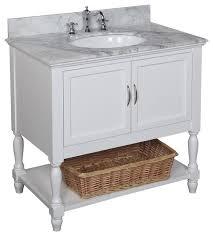 36 bathroom vanity with sink. beverly bath vanity, white, carrara marble top, 36\ 36 bathroom vanity with sink y