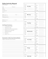 Sales Calls Template Sales Call Daily Report Template Free Download Tracking