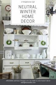 neutral winter home decor a blog hop