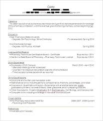 Pharmacy Tech Resume Template Amazing 24 Lovely Sample Resumes For Pharmacy Technicians Sick Note
