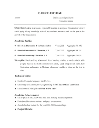 Fresher Resume Objective It Fresher Resume Objective Examples Career ...