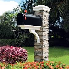 stone mailbox designs. Modern Stone Mailbox Plans Designs A