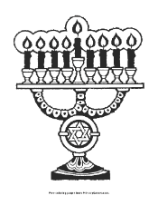 Small Picture Hanukkah Coloring Page Lighting the Menorah PrimaryGames Play