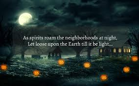 moon light scary halloween quote