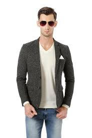 Solly Sport Suits Blazers Allen Solly Grey Wimbledon Blazer For Men At Allensolly Com
