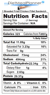 nutrition facts label meat 1