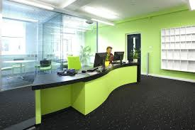 reception office cool ideas for office reception area with green wall decor modern