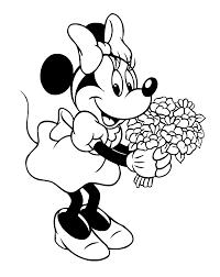 Minnie Fleurs Coloriage Minnie Coloriages Pour Enfants