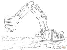 Small Picture Caterpillar Excavator coloring page Free Printable Coloring Pages