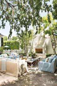 eclectic outdoor furniture. Traditional Neutral Outdoor Seating Area With Fireplace Eclectic Furniture T