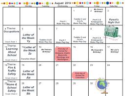 August Theme Calendar Calendar Powell Oh Big Hearts Little Hands