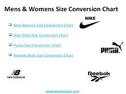 Shoe Brand Size Comparison Chart Get Your Favorite Shoes By Using Shoe Size Conversion Chart