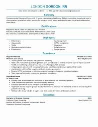 Sample Rn Nursing Resume Elegant Nursing Resume Sample Med Surg