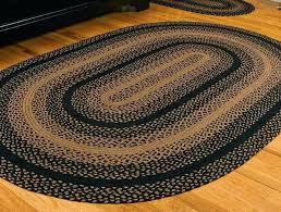ebony braided jute rug oval 8 x ft area rugs