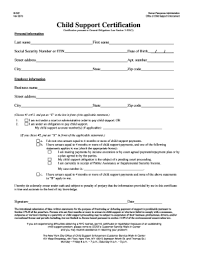 Child Support Certification Form Fill Out And Sign