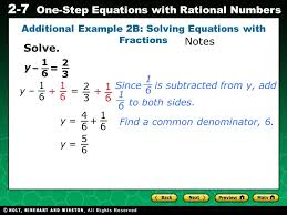 evaluating algebraic expressions 2 7 one step equations with rational numbers 1616 2323