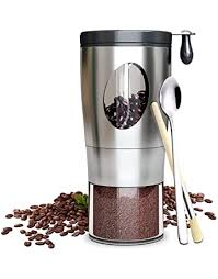 Even women with small hands can do the grinding stably. Aoleye Manual Coffee Grinder With Conical Burr Transparent Stainless Steel Portable Hand Crank Coffee Grinder For Aeropress Conical Ceramic Burr Coffee Mill With Cleaning Brush Coffee Scoop Espresso Kitchen Dining Home