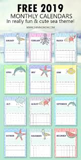 2019 Calendar Printable By Month Free 2019 Calendar Printable In Cute And Happy Print