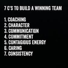 Quotes About Leadership And Teamwork Mesmerizing 48 C'S To Building A Winning Team Leadership At Work Pinterest