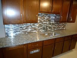 River White Granite Kitchen Backsplashes Glass Mosaic Backsplash White Cabinets River White