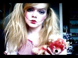creepy doll makeup tutorial bride of chucky inspired agaclip make your video clips