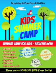 Summer Camp Pamplets 2 280 Customizable Design Templates For Summer Camp Postermywall