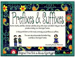 Suffix Anchor Chart Prefix Suffix Anchor Charts And Activities