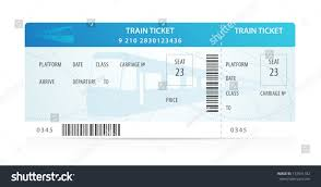 Vector Train Ticket Traveler Check Template Stock Vector 137541182 ...
