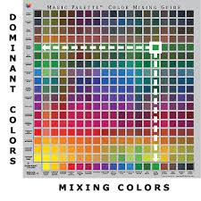 Free Color Mixing Charts Magic Palette Color Mixing