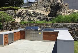 waterfront outdoor kitchen with custom concrete countertops brooks outdoor kitchen concrete countertop trend outdoor kitchen concrete