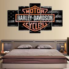 outstanding harley davidson living room image ideas s l1000 wall art panel canvas motor cycles