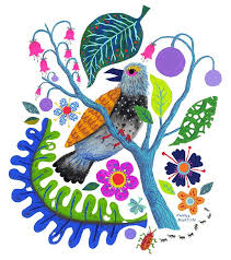 Janna Morton Illustration : Photo   Bird prints, Cute illustration,  Botanical pillow
