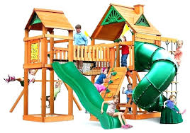 plans luxury playhouse swing set free of diy playset kits hardware beautiful early fun activity wooden