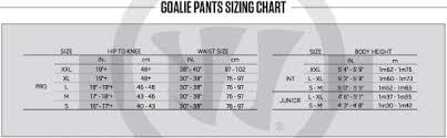 Bauer Supreme Size Chart Hockeyshop Forster Goalie Sizing Charts