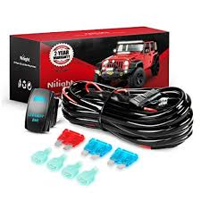 amazon com nilight led light bar wiring harness kit 12v 5pin rocker Wire Harness Manufacturers at Strong Wire Harness