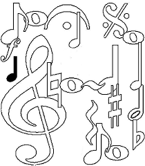 Music Coloring Pages Music Notes Coloringstar