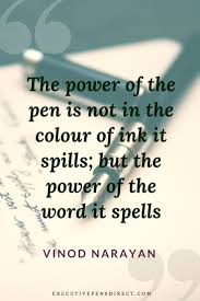 19 Inspiring Quotes About Pens Writing Pen Quotes Executive