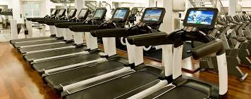 life fitness elevation series treadmills in gym in munich