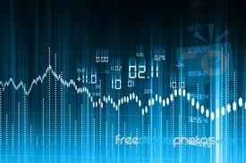 Stock Market Graph And Bar Chart Stock Image Royalty Free