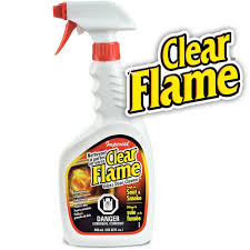 clear flame glas cleaner ef 22oz photo of fireplace glass doors