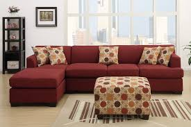 red living room sets. Reversible Sectional Chair With Single Chaise In Red Polka Dots Throw Pillows Ottoman Furniture Living Room Sets